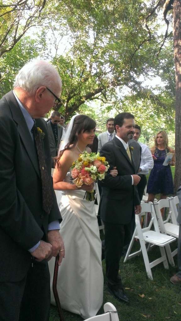 Our beautiful bride, Jessi and her very handsome Dad (and my guy), Jon.