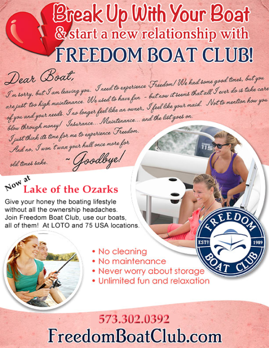 Valentines Break Up with your Boat